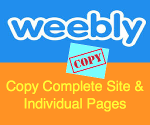 How to Copy Weebly Site and Page?