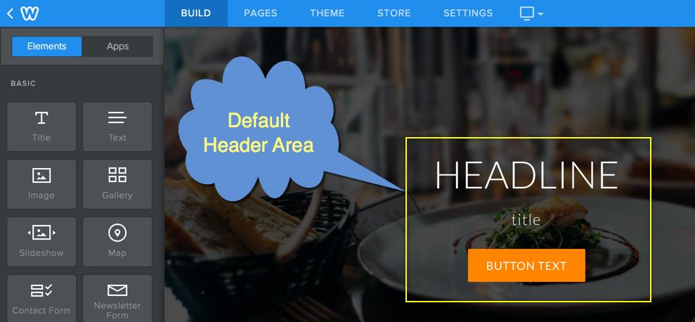 Default Weebly Landing Page Header