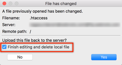 Deleting Local File After Editing