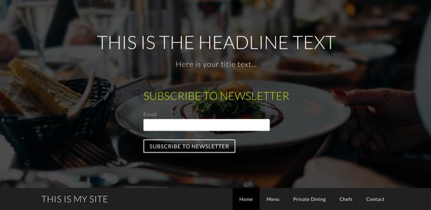 Опубликованные пользовательские элементы сайта Weebly в заголовке