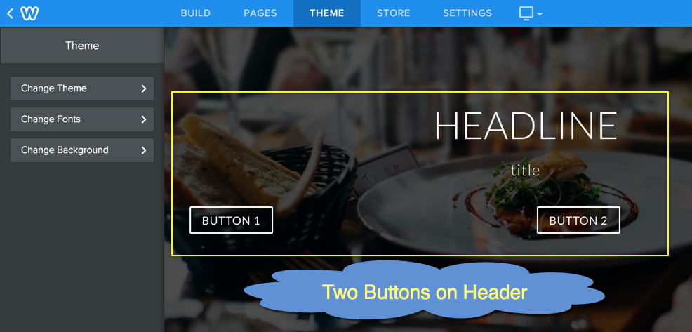 Two Buttons on Weebly Header Area