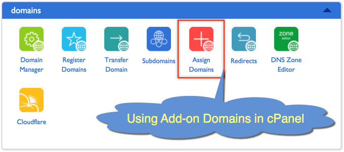 Using Addon Domains in cPanel Hosting