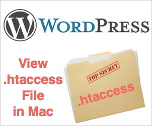 How to View WordPress .htaccess File in Mac OS X?