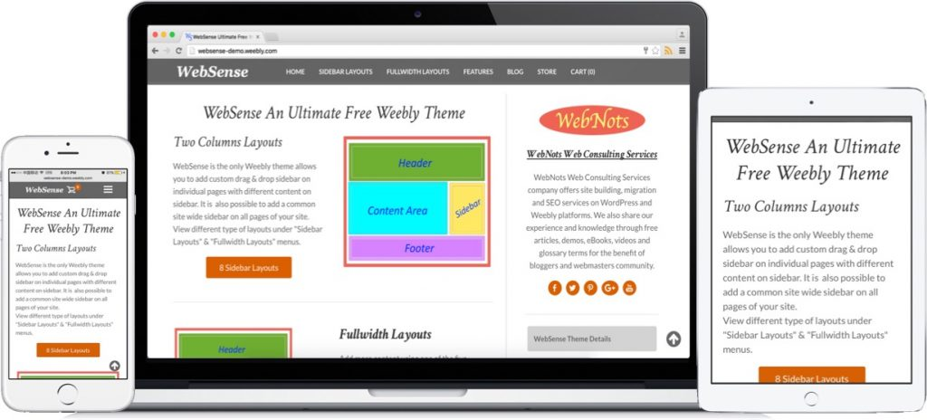 launching websense two column free weebly theme webnots