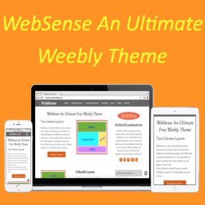 WebSense Free Two Column Weebly Theme