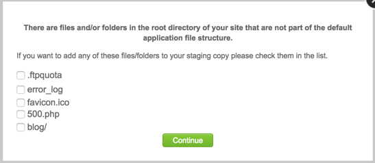 Choose Additional Files and Folders