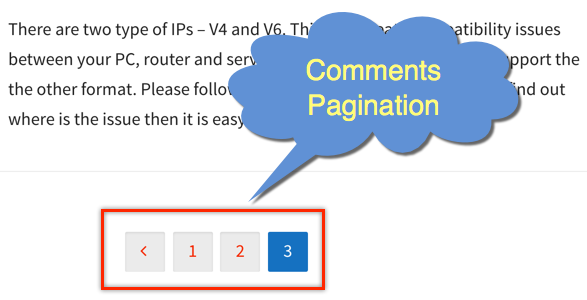 Comments Pagination in WordPress