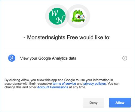 Connecting WordPress and Google Analytics