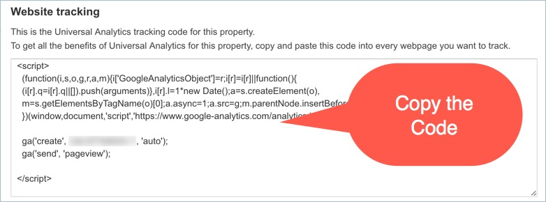 Copy Analytics Code