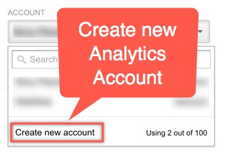 Create New Google Analytics Account