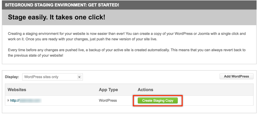 Creating Staging Copy of Your WordPress Site