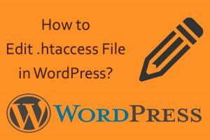 Edit .htaccess File in WordPress