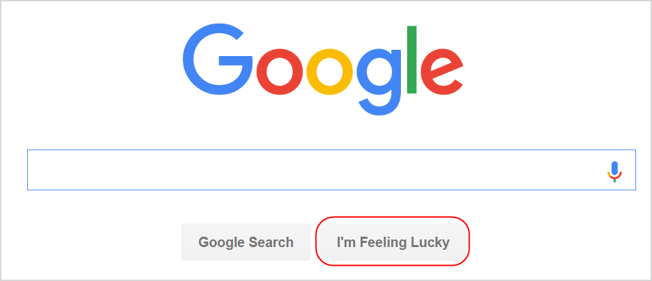Google Search I am Feeling Lucky Button
