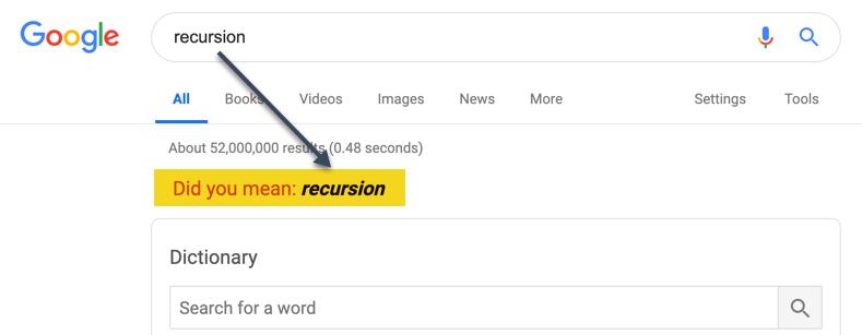 Google Search Recursion
