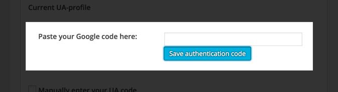 Manually Adding Google Analytics Code