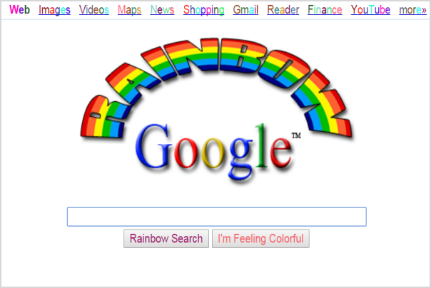 Rainbow Google Lucky Search
