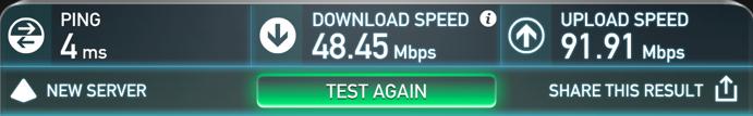Speed Test on China Unicom without VPN