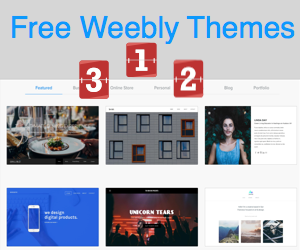 Top 3 Free Weebly Themes