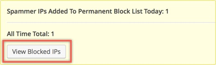View Blocked IP Address