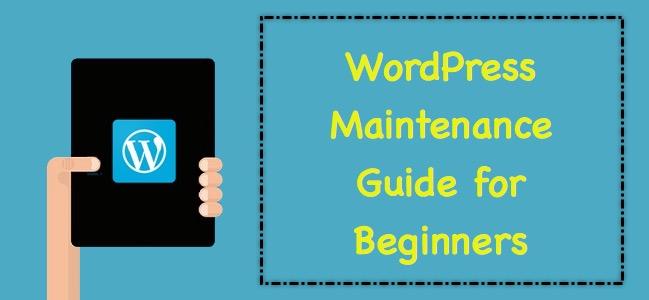 WordPress Maintenance Guide for Beginners