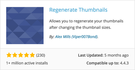 WordPress Regenerate Thumbnails Plugin