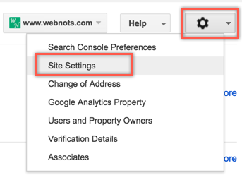 Access Crawl Control Settings in Google Search Console