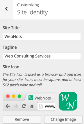 Favicon Option in WordPress
