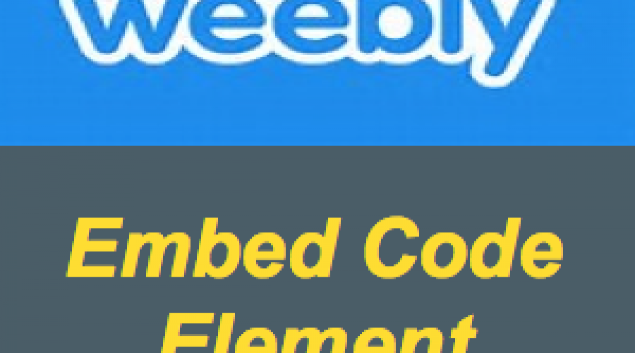 How to Use Embed Code Element in Weebly?