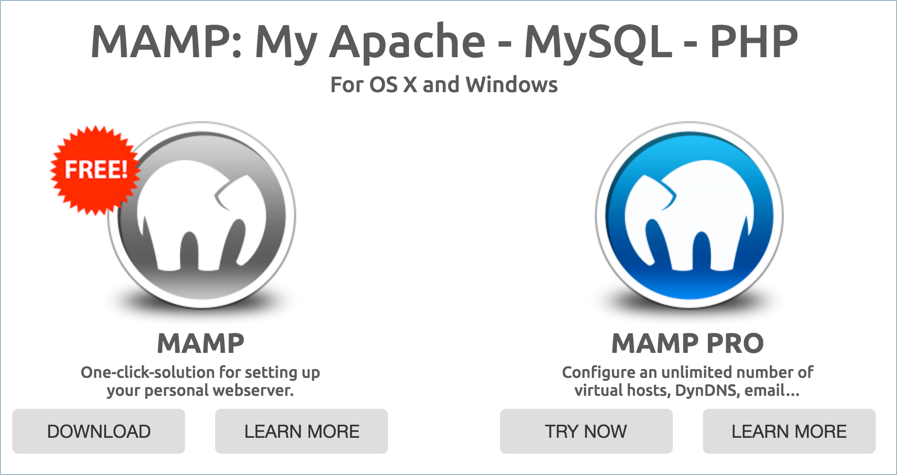 MAMP and MAMP Pro