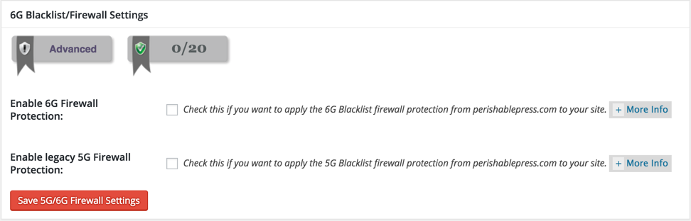 6G Blacklist Firewall Settings
