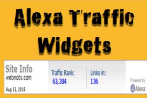 Alexa Traffic Widget Codes