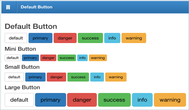 Bootstrap Default Style Buttons