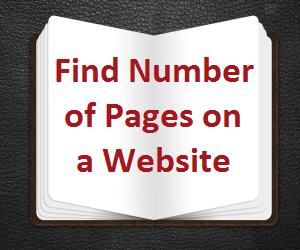 Find Number of Pages on a Website