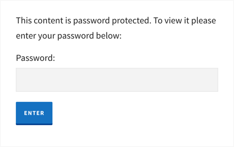 Password Prompt When Viewing the Post in Browser