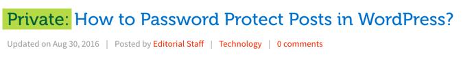 Отображение частных сообщений в WordPress