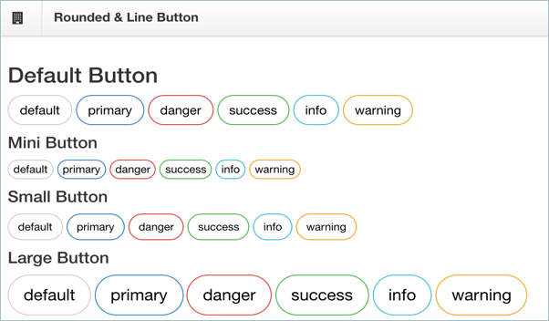 Bootstrap Rounded Line Buttons