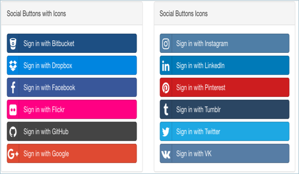 Bootstrap Social Sharing Buttons