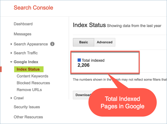 Total Indexed Pages of a Website in Google