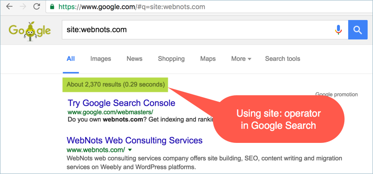 Using site Operator in Google Search