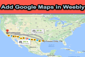 Add Google Maps in Weebly Site