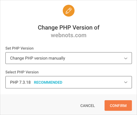 Confirm PHP Version Change in SiteGround