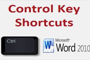 Control Key Shortcuts for Microsoft Word