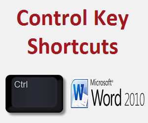 Control Key Shortcuts for Microsoft Word