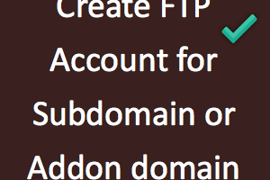 Create FTP Account for Subdomain