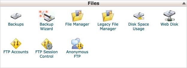 Раздел учетных записей FTP в cPanel
