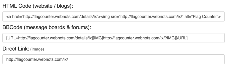 Flag Counter Widget Code