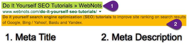 Meta Tags in Google Search