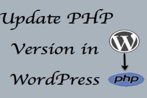 Update PHP Version in WordPress