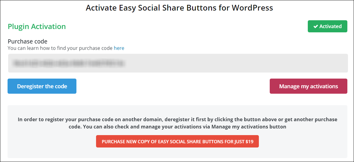 Activating ESSB for WordPress Plugin