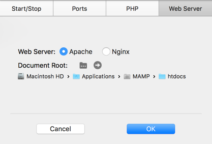 Document Root Pointing to Old MAMP Installation